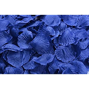 Lorraine Wedding Table Decoration Silk Rose Petals Flowers Confetti (8000, Navy) 42