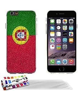 """Carcasa Flexible Ultra-Slim APPLE IPHONE 6 PLUS 5.5 POUCES de exclusivo motivo [Portugal Bandera] [Transparente] de MUZZANO  + 3 Pelliculas de Pantalla """"UltraClear"""" + ESTILETE y PAÑO MUZZANO REGALADOS - La Protección Antigolpes ULTIMA, ELEGANTE Y DURADERA para su APPLE IPHONE 6 PLUS 5.5 POUCES"""