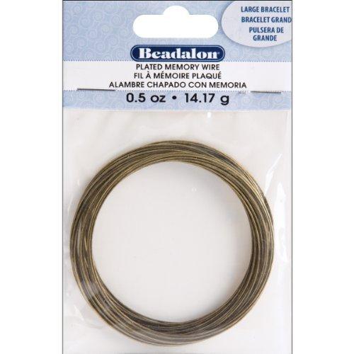 (Beadalon (1-Pack) Memory Wire Round Large Bracelet Antique Brass 0.5 oz (14 g) appx 30 coils/pack 347R-050-1P by Beadalon)