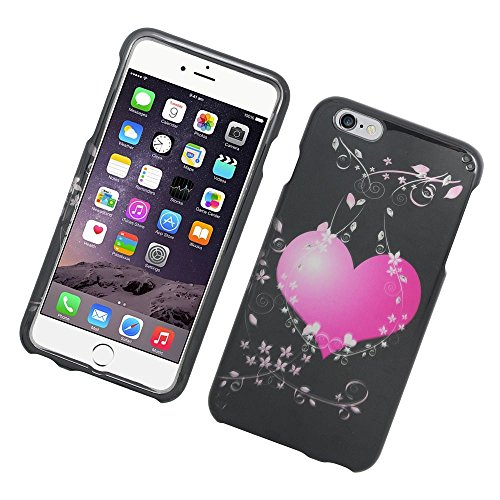 - iPhone 6 Plus/6s Plus Case, Insten Hearts Rubberized Hard Snap-in Case Cover for Apple iPhone 6 Plus/6s Plus, Pink/Black