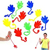 Dazzling Toys Vinyl Sticky Hands and Feet Birthday Party Favors Carnival Prize - Pack of 72 Hands, 1 1/4 Inch Hand with a 4 Inch String