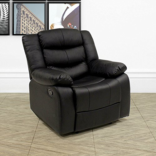 Beauty4Less Lazy Boy Leather Style Recliner Chair: Amazon.co.uk: Kitchen U0026  Home