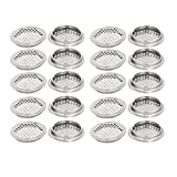 uxcell 53mm Bottom Dia Stainless Steel Round Mesh Hole Air Vents Louver 20pcs