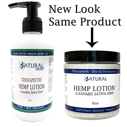 - Hemp Lotion - Therapeutic Body Lotion with Hemp Seed Oil (8 Ounce Pump)