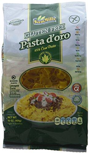 Sam Mills Pasta D'Oro Gluten Free, Lasagne Corte, 1-Pound (Pack of 6) (Best Ever Tuna Noodle Casserole)