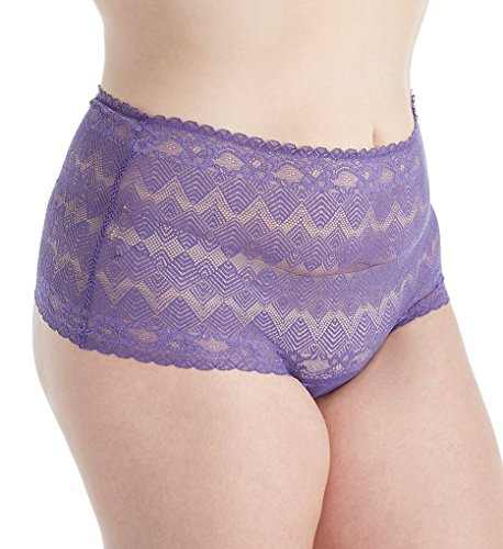 Ashley Graham Basic Plus Size Lace Thong (766190) 1X/Purple Rain