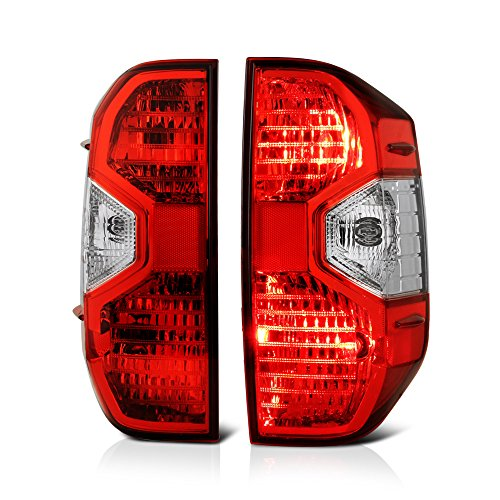 VIPMOTOZ Red Lens OE-Style Tail Light Lamp Assembly For 2014-2019 Toyota Tundra Pickup Truck, Driver & Passenger Side