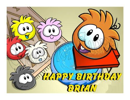 Club Penguin edible party cake topper cake image sheet (Mardi Gras Floats Ideas)