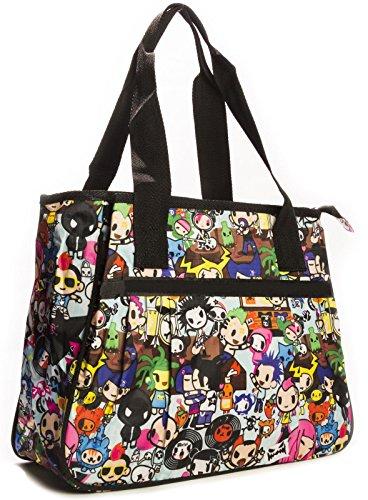 Big Handbag Shop - Bolsa unisex Tote 865 - Rock Party Blue