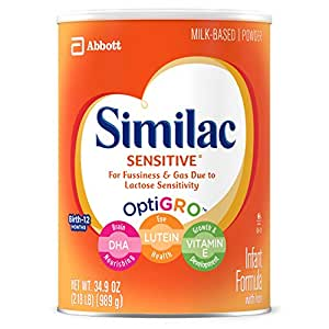 Similac Sensitive Infant Formula with Iron, For Fussiness and Gas, One Month's Supply, Baby Formula, Powder, 2.18 lb (Pack of 3)