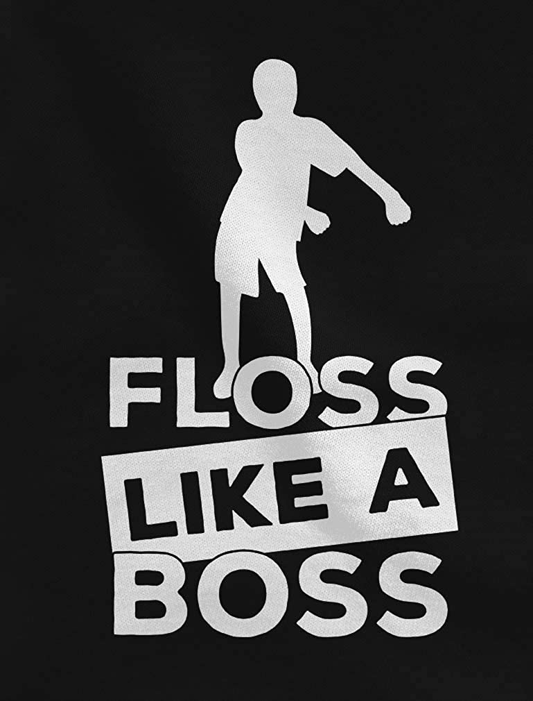 Floss Like a Boss Funny Emote Flossing Dance Toddler//Kids Girls Fitted T-Shirt
