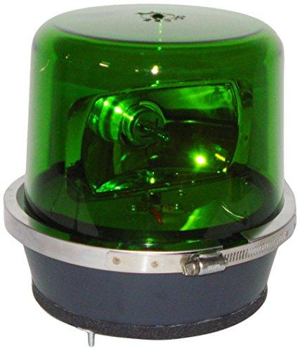 North American Signal 112HR-24G Halogen Rotating Beacon, Permanent Mount, Green