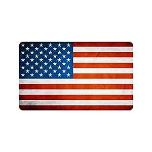 Rojo, Blanco y azul Star diseño de rayas Estados Unidos bandera de Estados Unidos resistente para interiores/al aire libre Floor Mat Doormats 30x 18cm (tamaño grande)