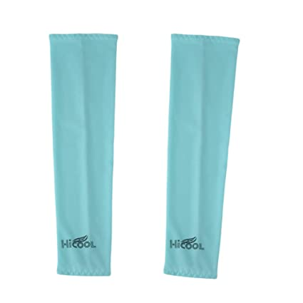 Forfar Refrigeración 1 par Protección UV Mangas del brazo más cálidas Hombres Mujeres Niños Guantes de