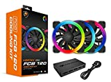 Cougar Hydraulic Vortex RGB FCB 120 mm Cooling Kit Included COUGAR Core Box C with Tri-Directional Lighting, RGB Effects and Motherboard Sync (3 Pack)