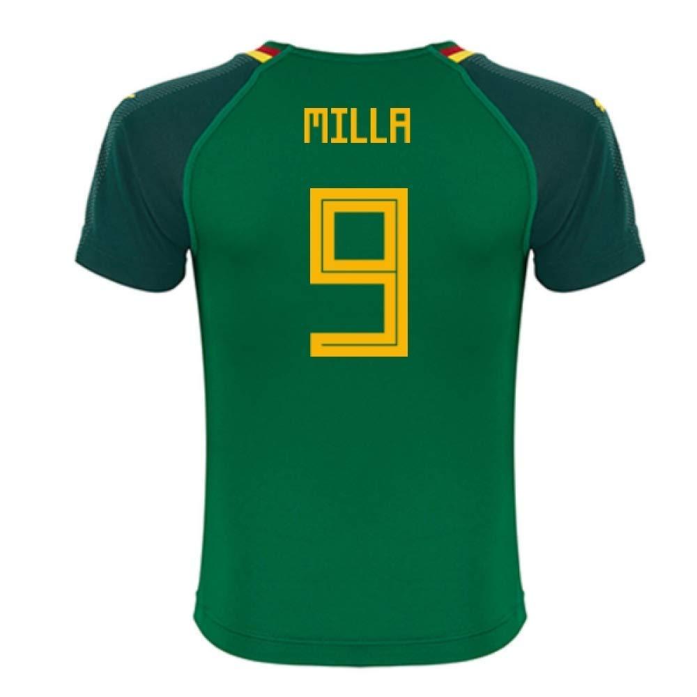2018-19 Cameroon Home Football Soccer T-Shirt Trikot (Roger Milla 9)