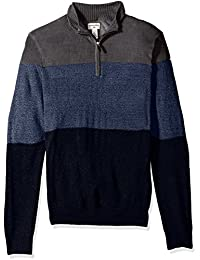 Men's Quarter Zip Soft Acrylic Sweater
