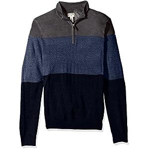 Dockers Men'sQuarter Zip Soft Acrylic Sweater