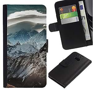 Ihec-Tech / Flip PU Cuero Cover Case para HTC One M8 - Nature Beautiful Forrest Green 120