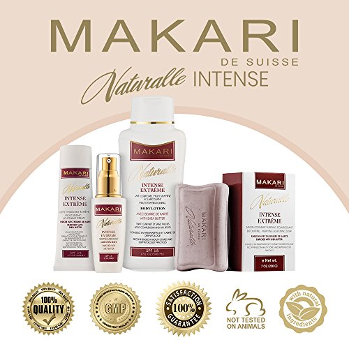Makari Naturalle Intense Extreme Lightening FACE Cream 1.7oz – Moisturizing & Toning Cream with Shea Butter & SPF 15 – Anti-Aging & Whitening Treatment for Dark Spots, Acne Scars & Wrinkles