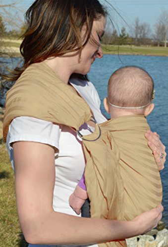 Lite-on-shoulder Ring/pouch Hybrid Baby Sling Carrier(Beige)