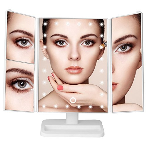 Loyogames LED Makeup Mirror Tri-Fold Lighted Vanity Mirror