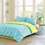 Intelligent Design Trixie Reversible Down Alternative Comforter Mini Set, Twin/ Twin X-Large, Blue/ Green