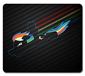 Customized Textured Surface Water Resistent Large Mousepad Rainbow Dash High Quality Non-Slip Best Large Gaming Pad Mouse Pads by icecream design