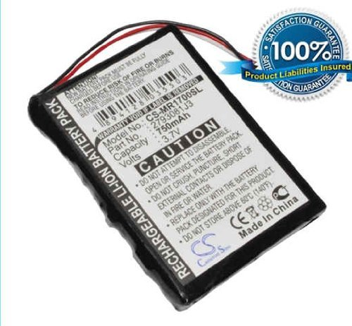 750mAh Li-ion Battery for Magellan RoadMate 1700 (Li Magellan Battery Ion)