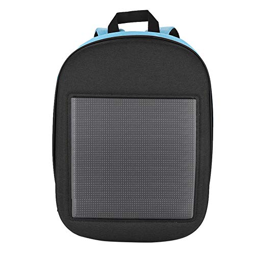 - Ciglow LED Display Backpack, WiFi LED Display Advertising Backpack Waterproof Shoulder Backpack Gift for Christmas, New Year, Birthday.(Blue)