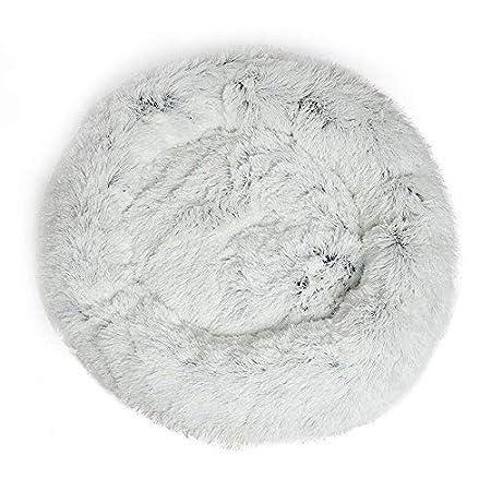Delidraw Plush Pet Bed,Shag Faux Fur Donut Cuddler Bed Warm Plush Dog Puppy Mat Pet Bed Soft Pet Bed,New Pet Bed Cama para Mascotas de Felpa,Cama para Mascotas de Felpa,Alfombrilla para Mascotas