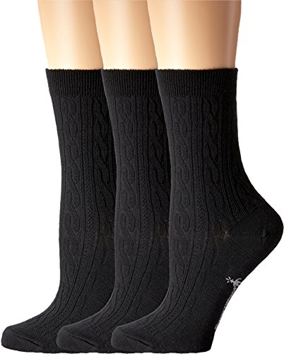 Smartwool Women's Cable II 3-Pack Black Socks SM (Women's Shoe 4-6.5)