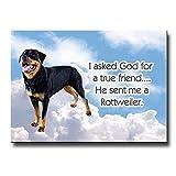 Rottweiler True Friend Fridge Magnet No 2
