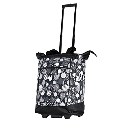 olympia-fashion-rolling-shopper-tote-black-polka-dots