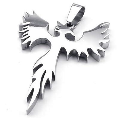24 konov stainless steel phoenix bird firebird pendant biker mens 24quot konov stainless steel phoenix bird firebird pendant biker mens necklace 24 inch chain aloadofball Gallery