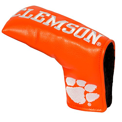(Team Golf NCAA Clemson Tigers Golf Club Vintage Blade Putter Headcover, Form Fitting Design, Fits Scotty Cameron, Taylormade, Odyssey, Titleist, Ping, Callaway )