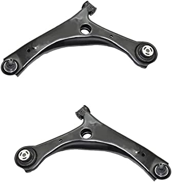 DRIVESTAR MS251002 MS251001 Front Lower Control Arms with Ball Joint Bushing for 2008-2013 Chrysler Town and Country 2008-2013 Dodge Grand Caravan 2009-2012 VW Routan Front Suspension Pair