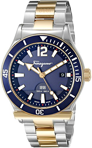 Salvatore-Ferragamo-Mens-FF3280015-FERRAGAMO-1898-Sport-Analog-Display-Swiss-Quartz-Two-Tone-Watch