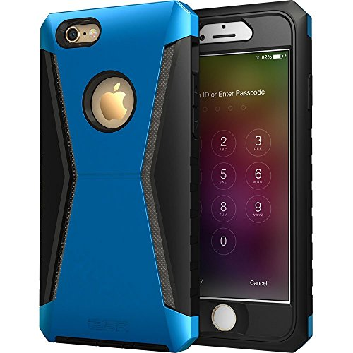 """iPhone 6/6s Case, ESR Full Body Hybrid Protective Case with Front Cover and Built-in Screen Protector [Three Layer] [Metal Design] [ Heavy Duty] for 4.7""""iPhone 6/6s at Gotham City Store"""