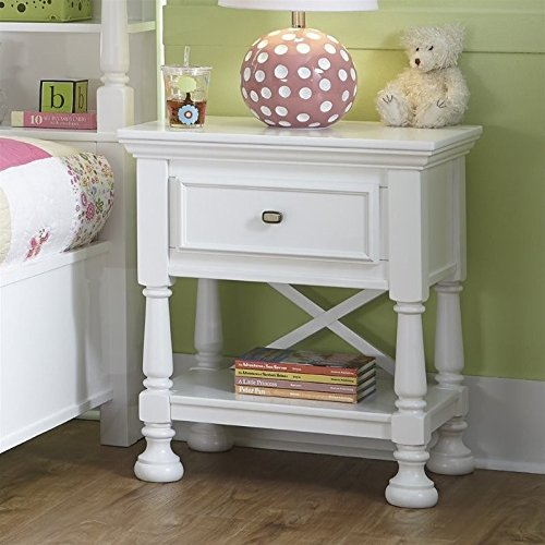 Ashley Furniture Signature Design - Kaslyn Nightstand - 1 Drawer - Casual - White by Signature Design by Ashley