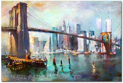 Qyydyh Superb Skills Artist Hand Painted Impression New York