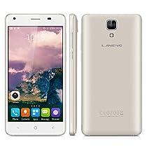 Landvo XM200Pro 5.0 Zoll 4G Smartphone Android 6.0 Quad Core 1.3GHz Dual SIM Handy ohne Vertrag IPS HD Screen 2GB RAM+16GB ROM 5+2MP Dual Kamera Smart Wake GPS WIFI Schwarz