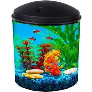 Hawkeye 2 gallon aquarium kit with filter and for Fish tank lights walmart
