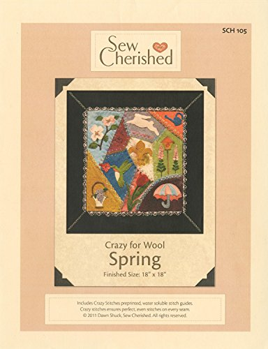 Crazy for Wool Spring Applique Pattern by Sew Cherished 18'' x 18'' SCH105 by Sew Cherished