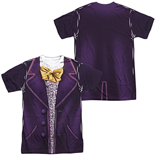 Willy Wonka & The Chocolate Factory Wonka Costume Front/Back Print Front/Back Print Adult T-Shirt 2X-Large ()