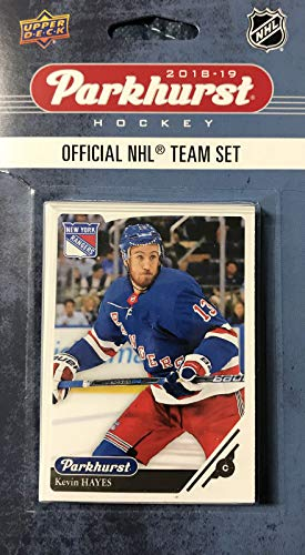 (New York Rangers 2018 2019 Upper Deck PARKHURST Series Factory Sealed Team Set including Henrik Lundqvist, Mats Zuccarello and Marc Staal Plus 7 Others)