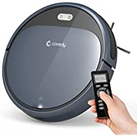 Coredy Robot Vacuum Cleaner, 1400Pa Super-Strong Suction, Ultra Thin, Automatic Self-Charging Robotic Vacuum for Cleaning Hardwood Floors to Medium-Pile Carpets, Filter for Pet, Easy Schedule Cleaning