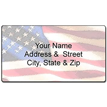 AmazonCom  American Flag Address Label  Customized Return