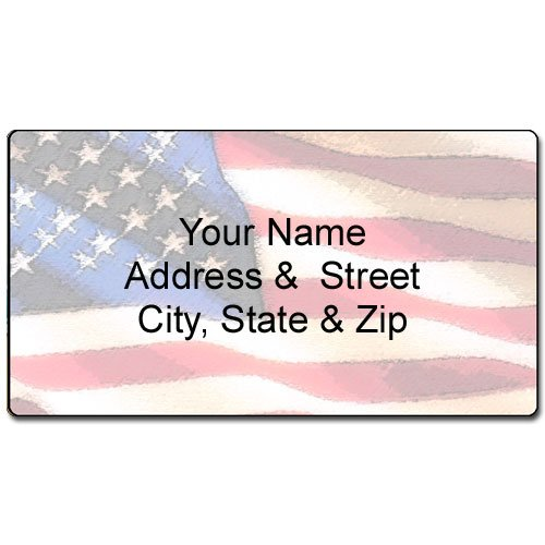 Amazon.Com : American Flag Address Label - Customized Return