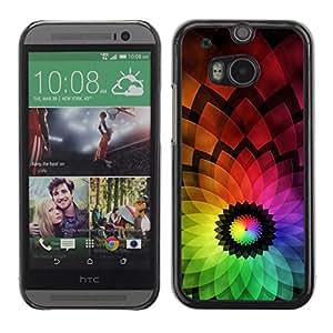 Be Good Phone Accessory // Dura Cáscara cubierta Protectora Caso Carcasa Funda de Protección para HTC One M8 // Abstract Colorful Flower